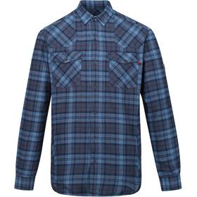 Regatta Tavior Camiseta Manga Larga Hombre, azul/gris